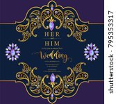 indian wedding invitation card ... | Shutterstock .eps vector #795353317