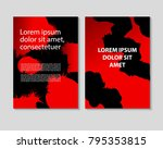this is a template for poster... | Shutterstock .eps vector #795353815