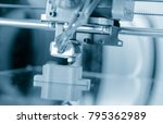 electronic three dimensional... | Shutterstock . vector #795362989