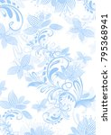 vertical floral background with ... | Shutterstock .eps vector #795368941
