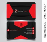 dark red creative modern name... | Shutterstock .eps vector #795375487
