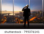 businessman and engineer... | Shutterstock . vector #795376141