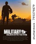 military vector illustration ... | Shutterstock .eps vector #795379879