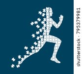 running person from the... | Shutterstock .eps vector #795379981