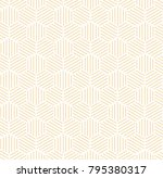orange hexagonal line seamless... | Shutterstock . vector #795380317