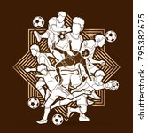 soccer player team composition...   Shutterstock .eps vector #795382675