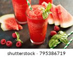 refreshing cold summer drink... | Shutterstock . vector #795386719