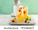 colorful refreshing cold summer ... | Shutterstock . vector #795386827