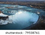 Aerial View Of Horseshoe Falls...