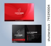 red and black modern business...   Shutterstock .eps vector #795390004