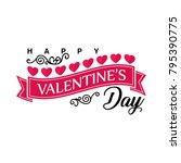 happy valentine's day... | Shutterstock .eps vector #795390775