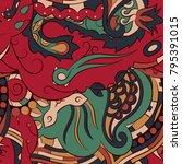 seamless mehndi vector pattern. ...   Shutterstock .eps vector #795391015