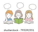 vector illustration character... | Shutterstock .eps vector #795392551