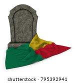 Gravestone And Flag Of Benin  ...