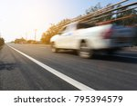 car on road car driving on...   Shutterstock . vector #795394579