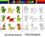 coloring book with little... | Shutterstock .eps vector #795394849
