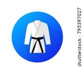 judo sport blue vector icon.... | Shutterstock .eps vector #795397027