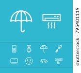 medal icon with heat  umbrella...