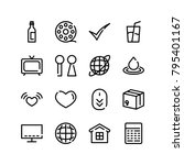 calculator icon with film ...