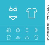 clothes icons set with swimsuit ...