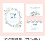 wedding card invitation  | Shutterstock .eps vector #795402871