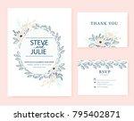 wedding card invitation  | Shutterstock .eps vector #795402871