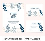 wedding card invitation  | Shutterstock .eps vector #795402895