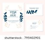 wedding card invitation  | Shutterstock .eps vector #795402901