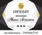 certificate template luxury and ... | Shutterstock .eps vector #795406774
