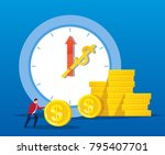 time is money | Shutterstock .eps vector #795407701
