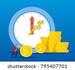 time is money | Shutterstock .eps vector #795407701