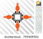 female mining pool icon with... | Shutterstock .eps vector #795409501