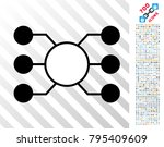 masternode links icon with 700... | Shutterstock .eps vector #795409609