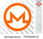 monero currency icon with 700... | Shutterstock .eps vector #795409615