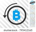 undo bitcoin payment pictograph ... | Shutterstock .eps vector #795412165