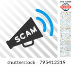 scam alert megaphone icon with... | Shutterstock .eps vector #795412219