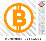 bitcoin pictograph with 7... | Shutterstock .eps vector #795412381