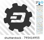 dash setup gear pictograph with ... | Shutterstock .eps vector #795414955