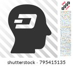 dash thinking icon with 700... | Shutterstock .eps vector #795415135