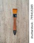 watercolor brush on wood... | Shutterstock . vector #795415285