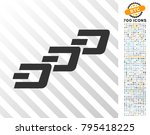 dash chain pictograph with 7... | Shutterstock .eps vector #795418225