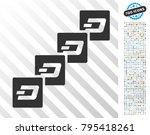 dash block chain pictograph... | Shutterstock .eps vector #795418261
