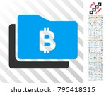 bitcoin purse icon with 700... | Shutterstock .eps vector #795418315