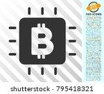 bitcoin processor chip... | Shutterstock .eps vector #795418321