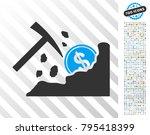 dollar mining hammer pictograph ... | Shutterstock .eps vector #795418399