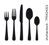 the contours of the cutlery.... | Shutterstock .eps vector #795424321
