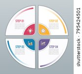 circle infographic template... | Shutterstock .eps vector #795424501