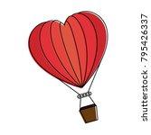 romantic travel in balloon air...   Shutterstock .eps vector #795426337