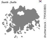 high quality map of south... | Shutterstock .eps vector #795433801