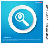 search map pin icon abstract...